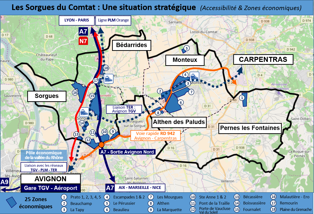 Carte Situation CCSC Accessibilit ZA